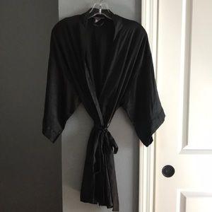 VS Black Silk Robe